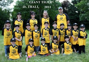 Giant Tiger - Jr. TBall  2011 TEAM